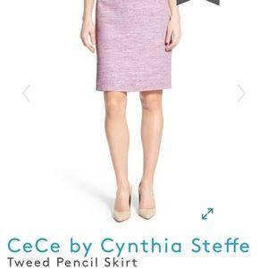 CeCe purple tweed skirt